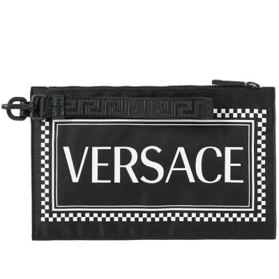 Versace Box Logo Zip Pouch