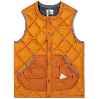 And Wander Diamond Stitch Down Vest