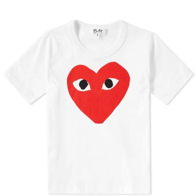 Comme des Garcons Play Kids Red Heart Logo Tee