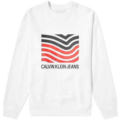 Calvin Klein Modernist Wave Crew Sweat