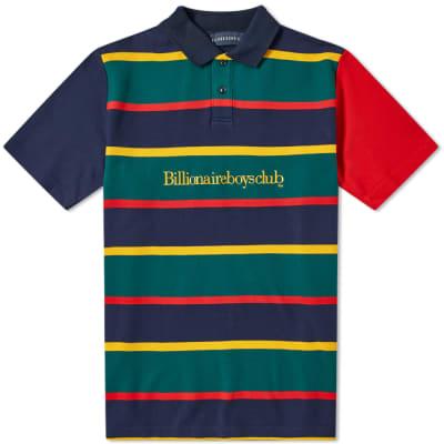 Billionaire Boys Club Stripe Embroidered Logo Polo