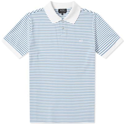 A.P.C. Pique Stripe Polo