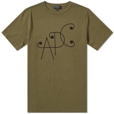 A.P.C. Scroll Logo Tee