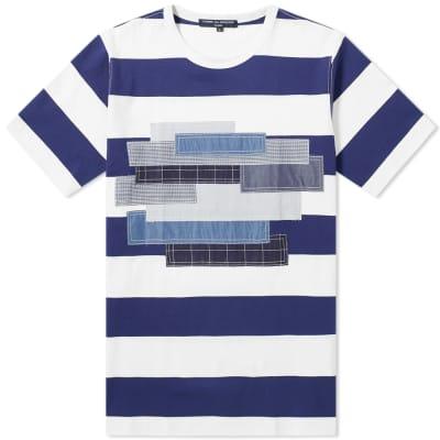 Comme des Garcons Homme Fabric Mix Stripe Tee