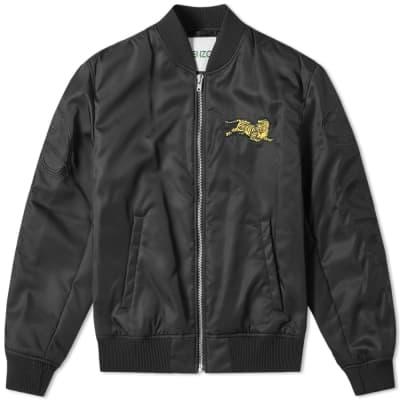 Kenzo Jumping Tiger Logo Bomber Jacket