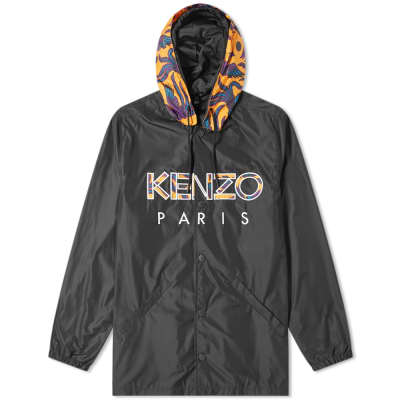 Kenzo Paris Logo Hooded Coach Jacket