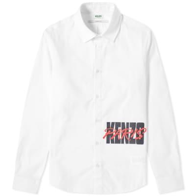 Kenzo Paris Logo Printed Shirt