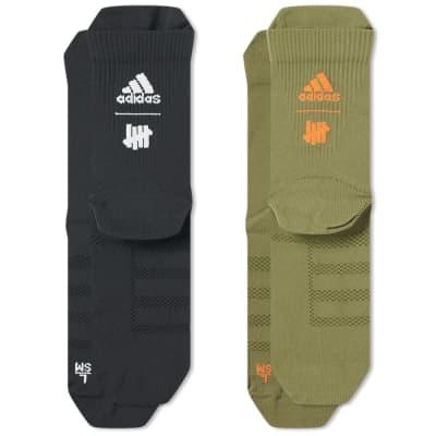 Adidas Consortium x Undefeated Logo Sock - 2 Pack