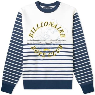 Billionaire Boys Club Cut & Sew Stripe Sweat