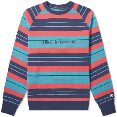 new concept 46332 12f2e Billionaire Boys Club Multi Stripe Raglan Sweat