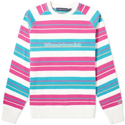 aff74ab18 Billionaire Boys Club Multi Stripe Raglan Sweat