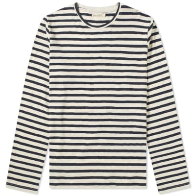 Nudie Long Sleeve Orvar Stripe Tee