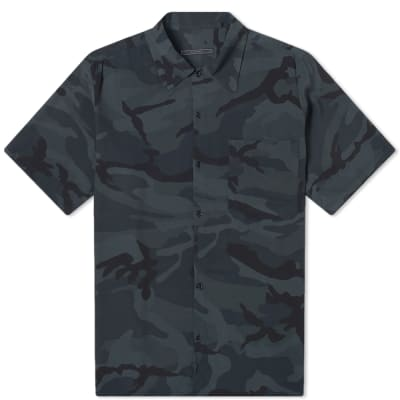 SOPHNET. Camoflage Rayon Wide Box Shirt