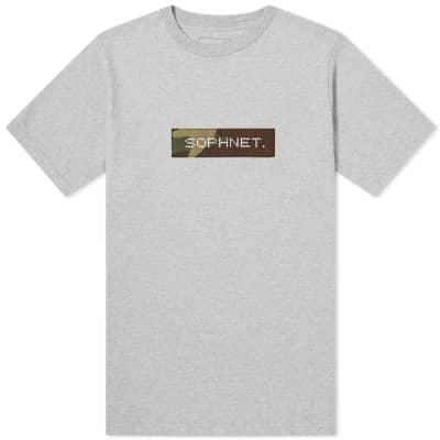 SOPHNET. Camouflage Box Logo Tee
