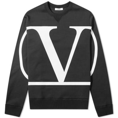 Valentino Go Logo Print Crew Sweat