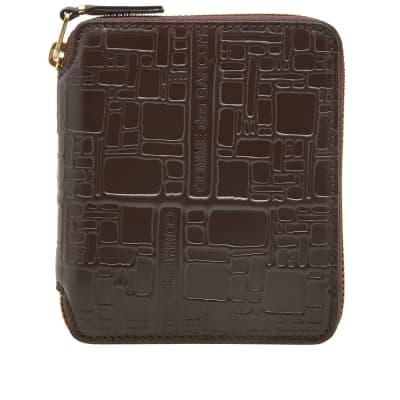 Comme des Garcons SA2100EL Embossed Logo Wallet