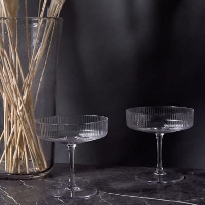 Ferm Living Ripple Champagne Saucer - Set of 2