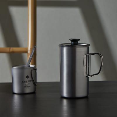 Snow Peak Titanium French Press - 3 Cup Set