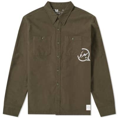 Denim by Vanquish & Fragment Icon Flannel Overshirt