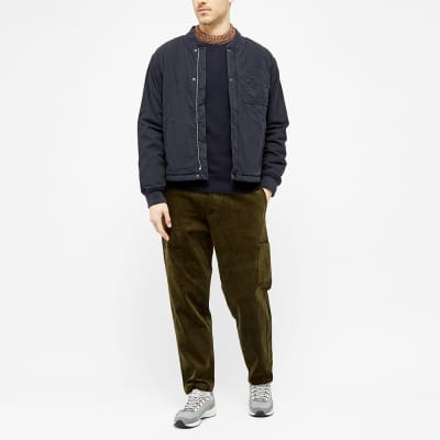 Oliver Spencer Blenheim Contrast Rib Crew Knit