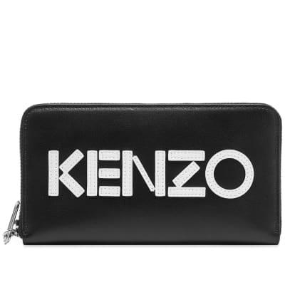 Kenzo Leather Logo Continental Zip Wallet