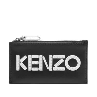 Kenzo Leather Logo Zip Card Wallet