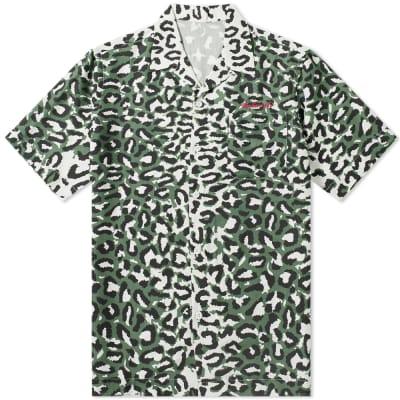 Maharishi Short Sleeve Leopard Camo Vaction Shirt