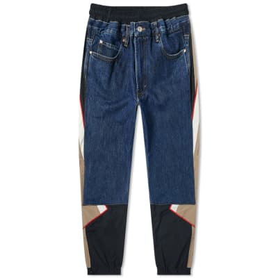 Martine Rose Hybrid Denim Track Pant