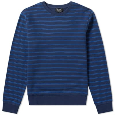 A.P.C. Stripe Crew Sweat
