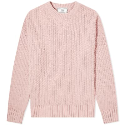 AMI Basket Stitch Crew Knit