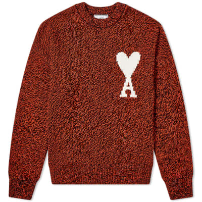 AMI Oversized Heart Logo Crew Knit