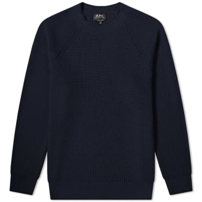 A.P.C. Basket Knit Crew Sweat