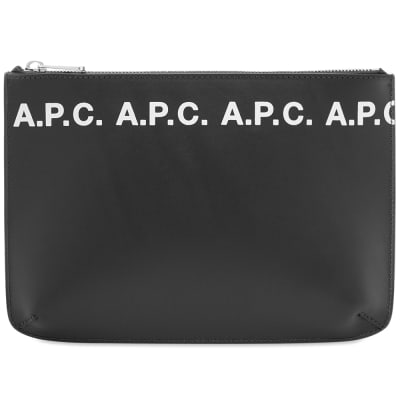 A.P.C. Logo Zip Document Holder