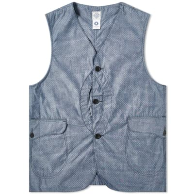 Post Overalls Royal Traveller Button Vest