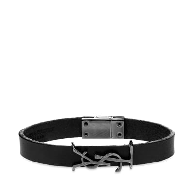 Saint Laurent YSL Leather Bracelet