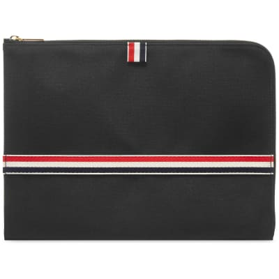 Thom Browne Large Grosgrain Stripe Document Holder