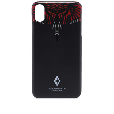 Marcelo Burlon Geometric Wings iPhone X Case