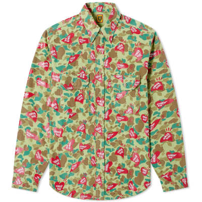 Human Made Heart Camo Shirt