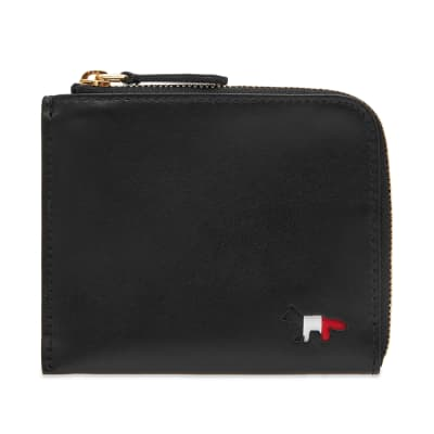 Maison Kitsuné Tricolour Leather Coin Purse