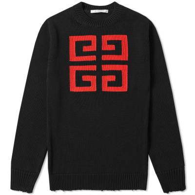 Givenchy 4G Jacquard Crew Knit