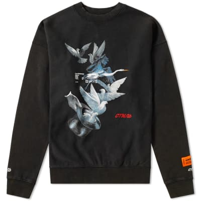 Heron Preston Doves Crew Sweat