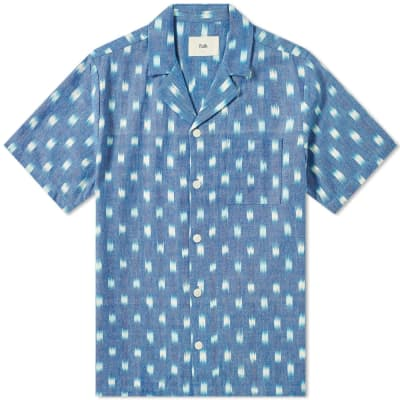Folk Short Sleeve Soft Collar Vacation Shirt