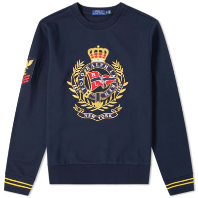 Polo Ralph Lauren Large Embroidered Motif Crew Sweat