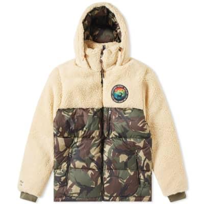 Polo Ralph Lauren Sherpa Fleece Patchwork Jacket