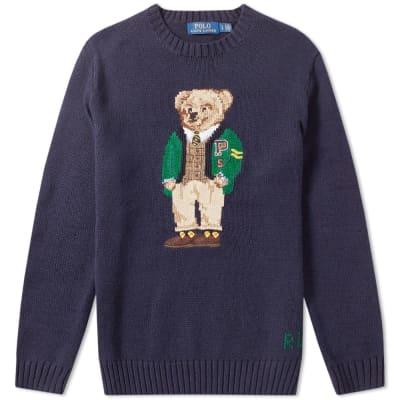Polo Ralph Lauren Yale Bear Intarsia Knit