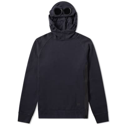 44d6ae1faae5b C.P. Company Arm Lens Popover Hoody Washed Black | END.
