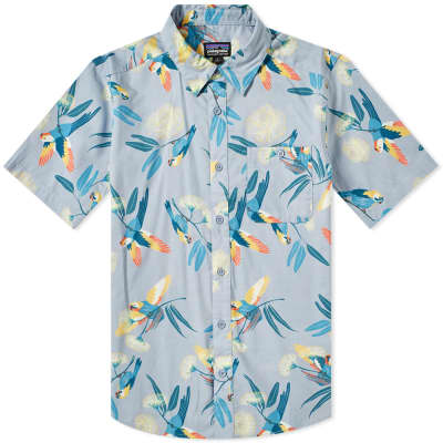 Patagonia Short Sleeve Go To Parrots Shirt