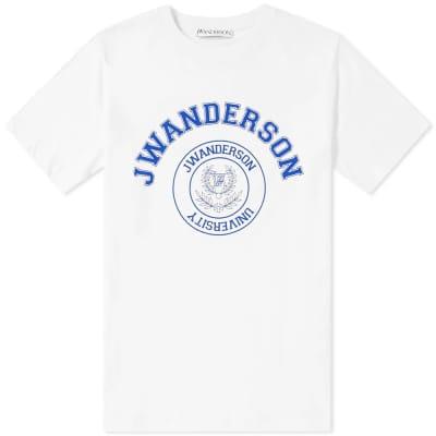 JW Anderson University Logo Print Tee