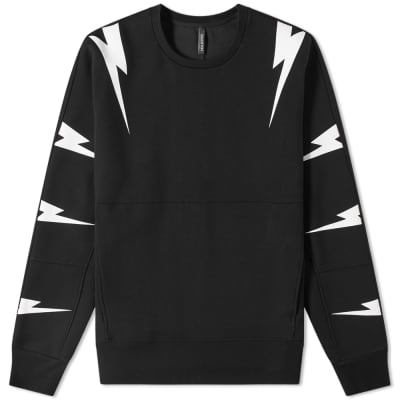 Neil Barrett Tiger Bolt Scuba Pocket Sweat