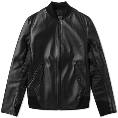 Y-3 Bonded Leather Jacket
